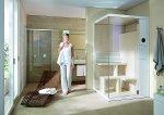 Łazienka, sauna Inipi B Super Compact, o wymiarach 120 x 120