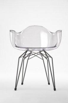 Przezroczyste krzesło Diamond Arm Chair