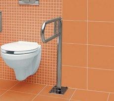 Łazienka dla niepełnosprawnych, miska ustępowa, uchwyt