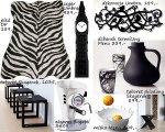 Dekoracje i dodatki w kolorze białym i czarnym